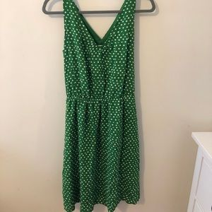 Green Polka Dot Sundress